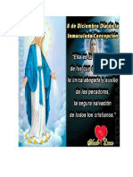 Día de La Inmaculada Concepción de María