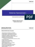 Sistemas Operacionais I - Gerenciamento Dos Recursos Mai17