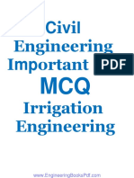 Civil Engineering Important 138 MCQs Irrigation Engineering