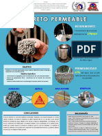 Cartel Concreto Permeable