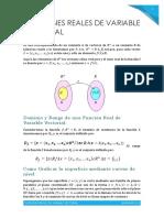Funciones Reales de Variable Vectorial