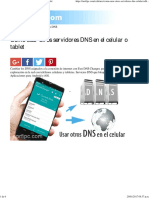 Como Usar Otros Servidores DNS en El Celular o Tablet