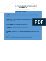 Diseño Del Programa de Capacitación y Desarrollo