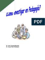 Como Investigar en Pedagogia