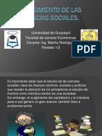 Surgimiento de Las Ciencias Sociales