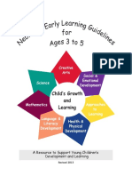 early learning guidlines 3-5 year olds