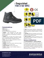 Ficha Técnica DIEQUINSA Zapato de seguridad BICAP L 2150 3 S2 SRC