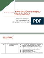 Evaluación de riesgo toxicológico