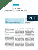 CA Cervical en El Peru