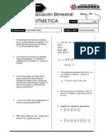 Examen Bimestral Rm Arit 1 Sec Breña