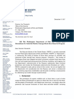 HSUS Letter to WDFW director