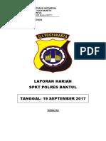 Lap Ppgk Polres Bantul Tgl 16 September 2017