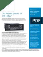 Dell Engineered Solutions for SAP HANA 3 1 Data Sheet