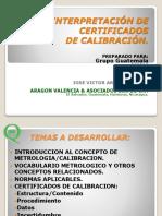Interpretación Certificados de Calibracion 062017 v01