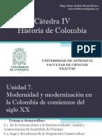 Unidad 7 Modernidad y Modernización en la Colombia de Comienzos del Siglo XX