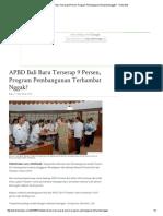16. APBD Bali Baru Terserap 9 Persen, Program Pembangunan Terhambat Nggak_ - Tribun Bali