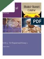 Bhakti Shastri - IsO Essay 1 v2.2