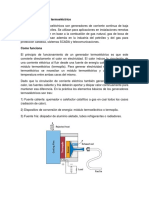 generador termoeléctrico