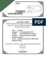 Undangan Tasyakuran Haji