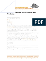 Example Reference Request Letter and Pro-Forma