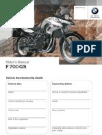 Instruction Manual F700GS