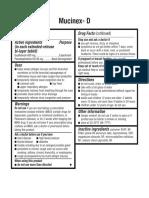 Drug Facts Mucinex d Expectorant and Nasal Decongestant Caplets
