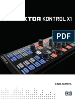 Traktor Kontrol X1 Getting Started German