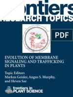 EvolutionMembrane Signaling and Trafficking in Plants