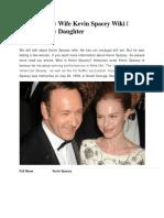 Kevin Spacey Wife Kevin Spacey Wiki | Kevin Spacey Daughter