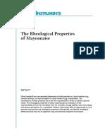 REO-The Rheological Properties of Mayonnaise
