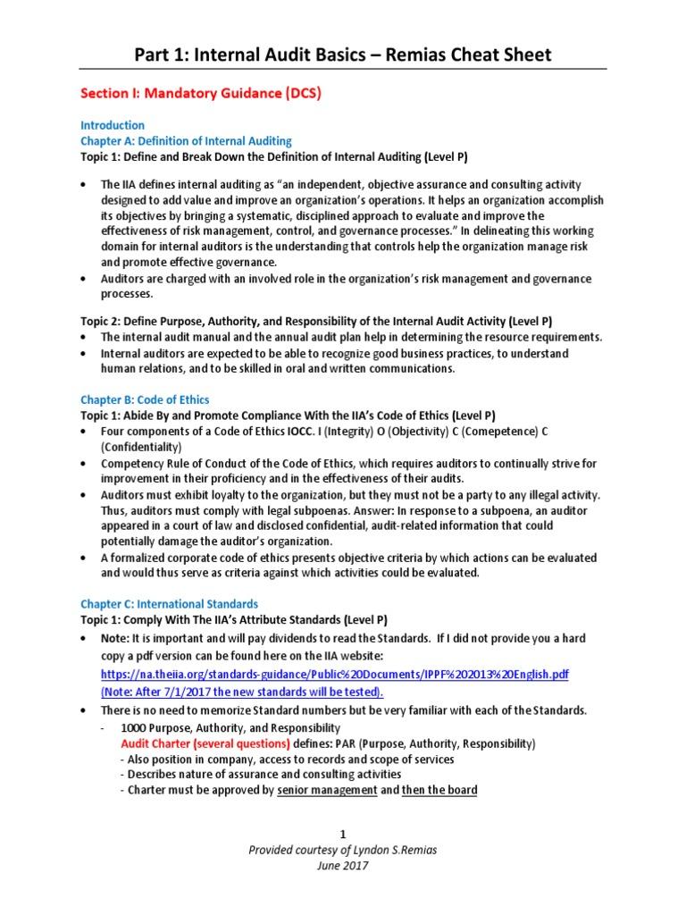 Cia part 1 cheat sheet updated june 2017 copy copy internal cia part 1 cheat sheet updated june 2017 copy copy internal audit audit fandeluxe Images
