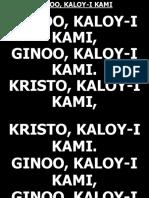 Ginoo Kaloy-i Kami