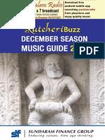 KutcheriBuzz Music Guide 2017