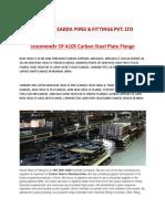 Stockholder of A105 Carbon Steel Plate Flange