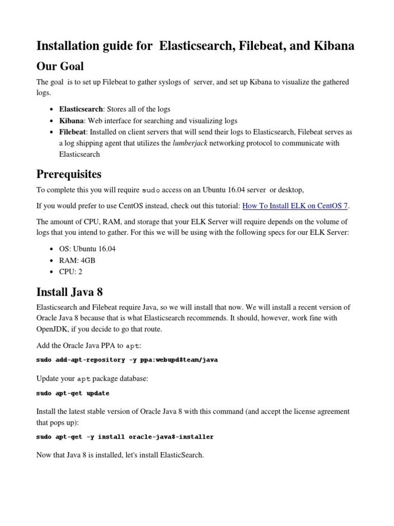 Elk Guide   Ubuntu (Operating System)   Java (Programming