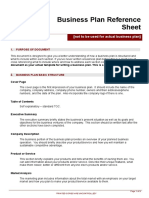 _Business Plan Reference Sheet