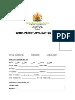 British Work Permit Application Form