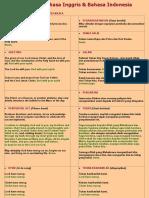 Teks Misa Bahasa Inggris & Bahasa Indonesia