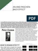 Zeeman and Paschen-back Effect