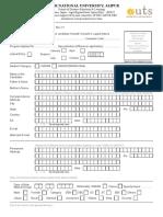 JNU Admission Form