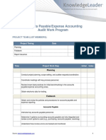 Accounts PayableExpense Accounting Audit Work Program