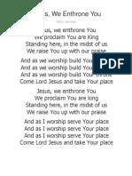 SUMMIT Worship Songs Docx