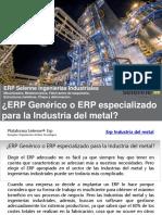 Erp Industria Metal - Qué ERP Elegir en Ingenierías Industriales