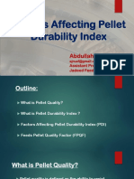 Factors Affecting Pellet Durability Index