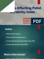 Factors Affecting Pellet Durability Index
