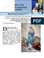 HORA SANTA Con San Pedro Julián Eymard. RECIBIR A JESÚS EUCARISTÍA COMO LA INMACULADA (30)