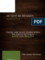 Do Not Be Shaken