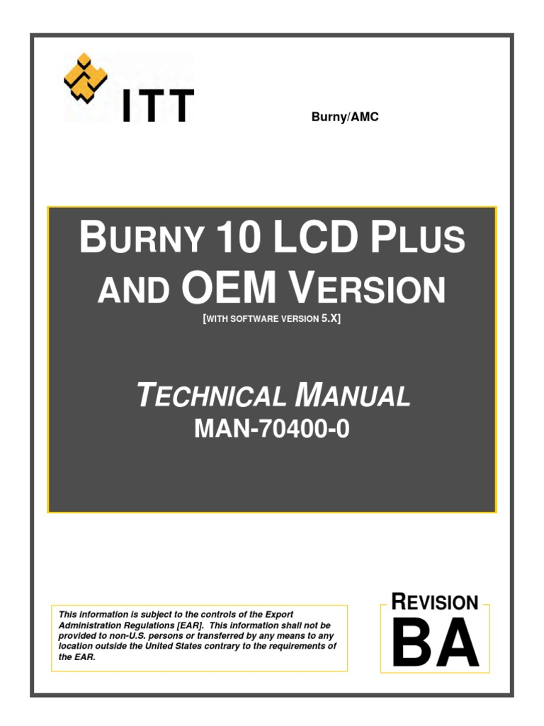 man 70400 0ba burny 10 lcd plus and oem technical manual pdf rh scribd com
