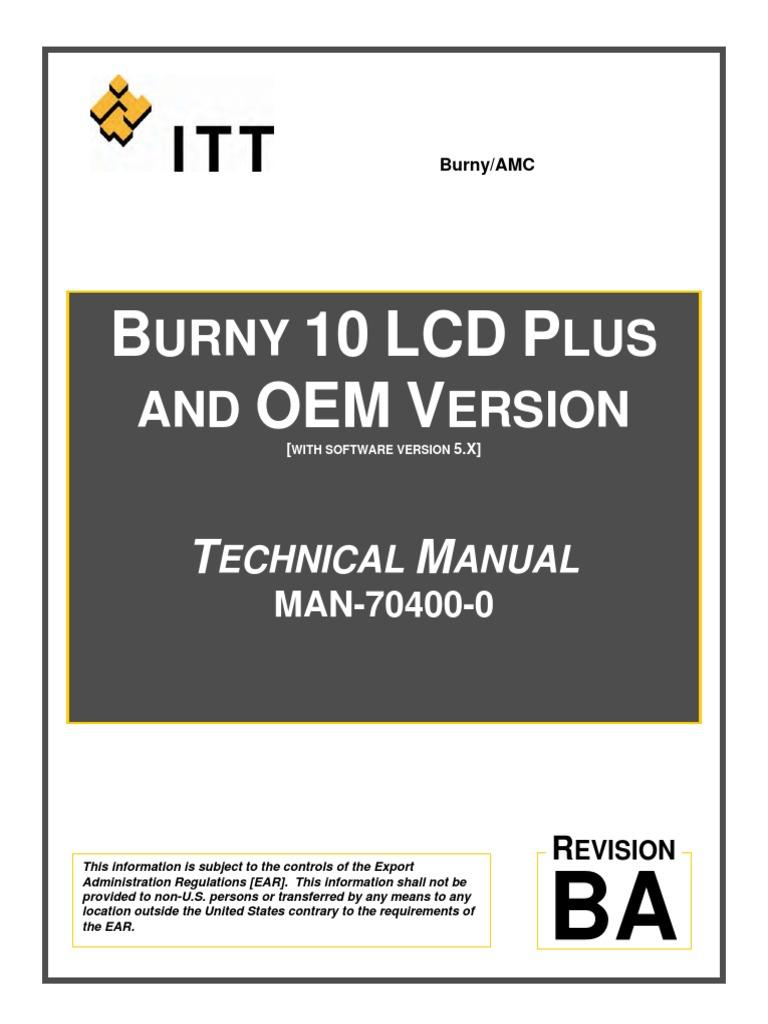 man 70400 0ba burny 10 lcd plus and oem technical manual pdf rh scribd com
