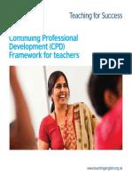 CPD Framework for Teachers